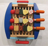 Wooden BBQ set with kebabs