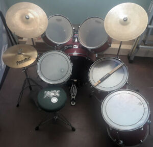 10 PIECE DRUM KIT WITH UPGRADES