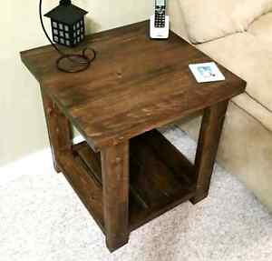 Rustic side table!!