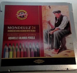 Mondeluz Aquarell Watercolor Pencils, 24-Pack