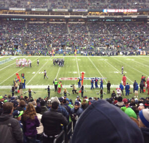 Seahawks vs LOS ANGELES RAMS lower bowl aisle seats