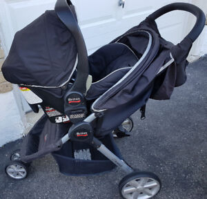 Britax Stroller & Car Seat Combo with Tray & Cup Holder