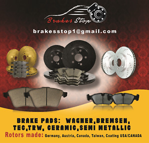 2003 2004 2005 Lincoln Aviator (Front+Rear Rotors+ Pads)