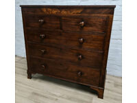 Victorian Mahogany Chest Of Drawers (DELIVERY AVAILABLE)