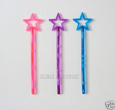 12 Mini Plastic Princess Star Wand Birthday Party Goody Bag Favor Costume Supply