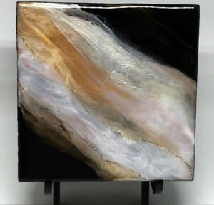 """New Small 6""""x 6"""" Abstract Painting by Local Artist"""
