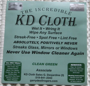 "The INCREDIBLE ""K D CLOTH"""