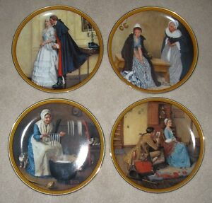 "Rockwell's ""The Colonials"" Plate Series by Knowels"