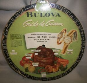 Vintage Bulova Advertising Kitchen Cooking Aid