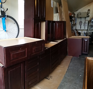 13 Brand  new Rustic cherry  Cabinets