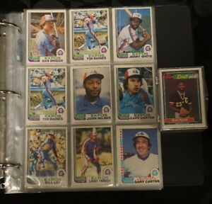 330+ Montreal Expos Baseball cards 70s 80s and 90s