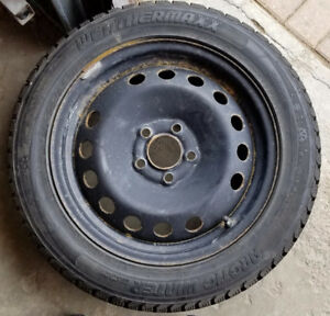 Winter Tires with Rims 205/55/16
