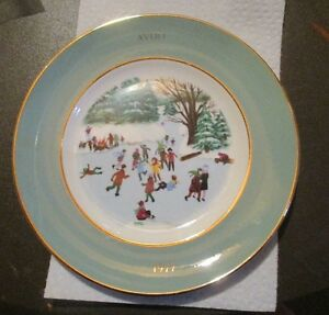 'Skaters on the Pond' 1977 Avon Collector plate