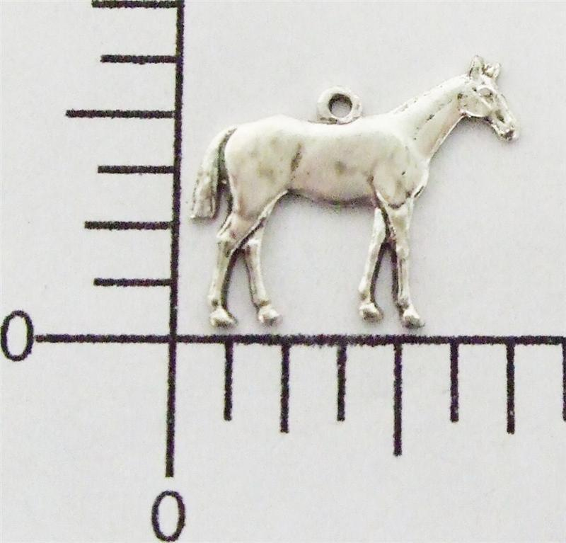 40084        2 Pc  Matte Silver Oxidized Small Horse Charm Jewelry Finding
