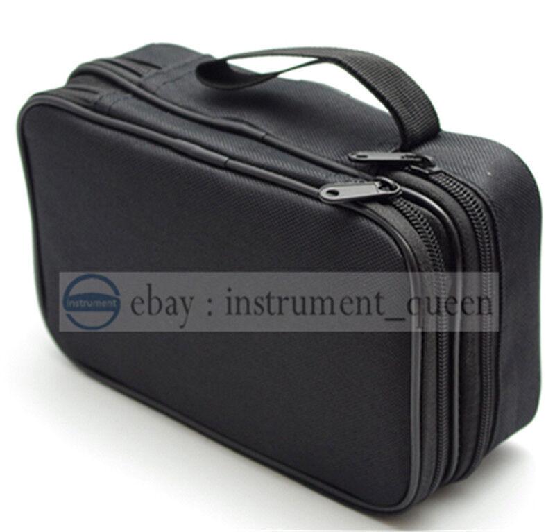 Double Layer Zipper Carrying Case Bag Use for Multimeters UT61E Fluke 87V