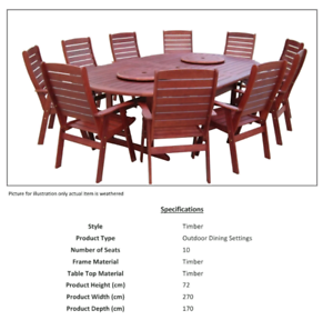 Montreal Outdoor setting 10 seater