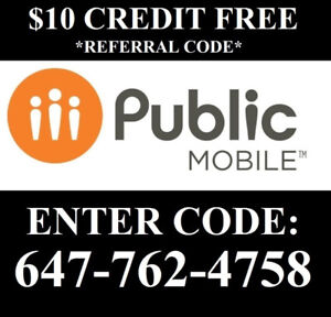 $10 Referral Public mobile Code: 647-762-4758