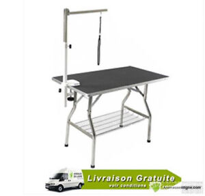 "Table transportable pour toilettage, 24"" x 44"" avec support"