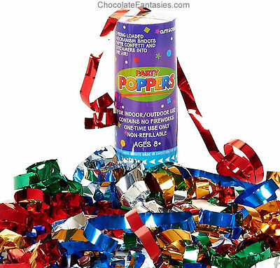 Amscan Confetti Party Poppers New Years Eve Birthday Mardi Gras Celebraton - New Years Eve Poppers