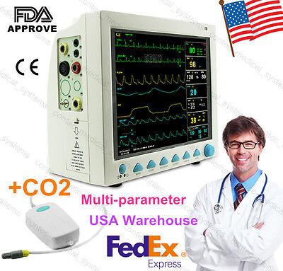 Etco2 Capnograph Vital Signs Patient Monitor Multi Parameter Fda Ce Usa Fedex