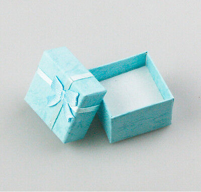 3 Pcs Square Jewellery Box Lightblue Jewelry Gift Boxes Case For Ring Esca