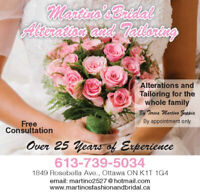 WEDDING APPAREL AND BRIDAL ALTERATIONS AND CUSTOM DRESSMAKING