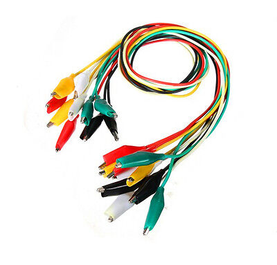 20 Double-ended Crocodile Clip Alligator Test Jumper Probe Lead Wire