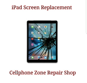 iPad 2 / 3 / 4 Screen Glass Cracked Replacement $55 + Warranty