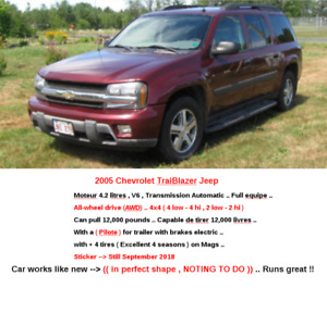 2005 Chevrolet Trailblazer Jeep