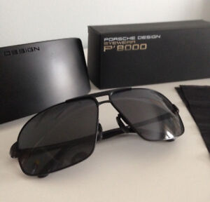 Porsche black P8000 sunglasses