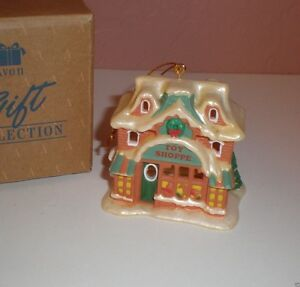 """Avon Snow Frost Falls Victorian Village Light Cover """" Toy Shoppe"""