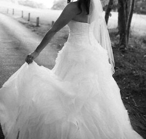 Casablanca Rosette Ball Gown A-Line Wedding Dress