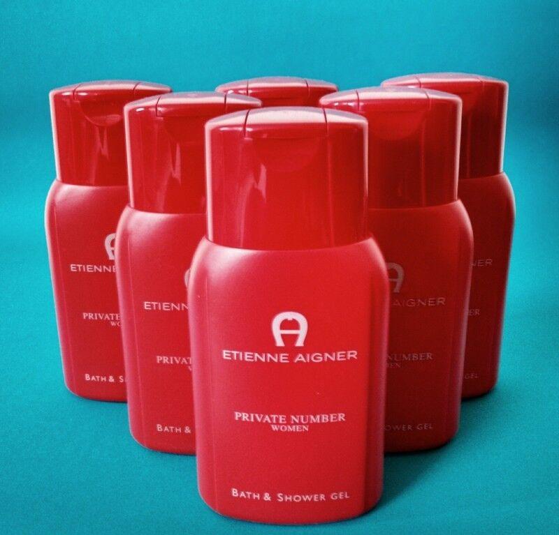 Etienne Aigner PRIVATE NUMBER Woman Bath & Shower Gel Duschgel 6 x 250 ml