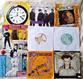 """""""Culture Club/Boy George"""" Joblot 7"""" Singles x 9 Not Tested (All Listed)"""