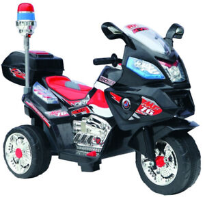 Kids Police Motorcycle 12-Volt Battery-Powered Ride-On