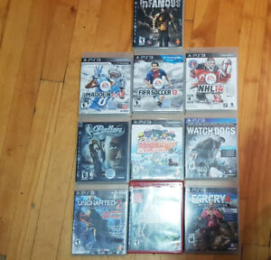 Jeux PS3 Games Far Cry Uncharted FIFA NHL NBA Watch Dogs ++