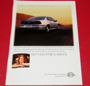 2000 CHEVY IMPALA SEDAN CAR AD - ANONCE AUTO CHEVROLET