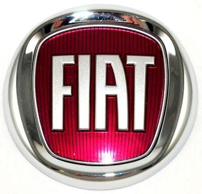 Fiat Grande Punto Panda Doblo Rear Tailgate Red Boot Badge Genuine 735577820