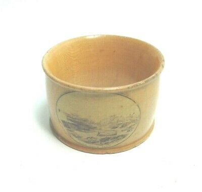 ANTIQUE MAUCHLINE TRANSFER WARE NAPKIN RING HOLDER KIRN FROM EAST