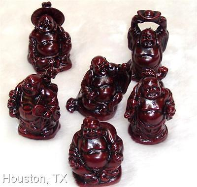 6x set Chinese Oriental Feng Shui Lucky Love Happy Happiness Buddha Figurine #Sm