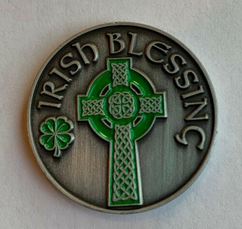 New Lucky Irish Blessing Cross Pocket Coin Golf Ball Marker