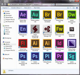 ADOBE PHOTOSHOP, INDESIGN, ILLUSTRATOR CS6,etc...