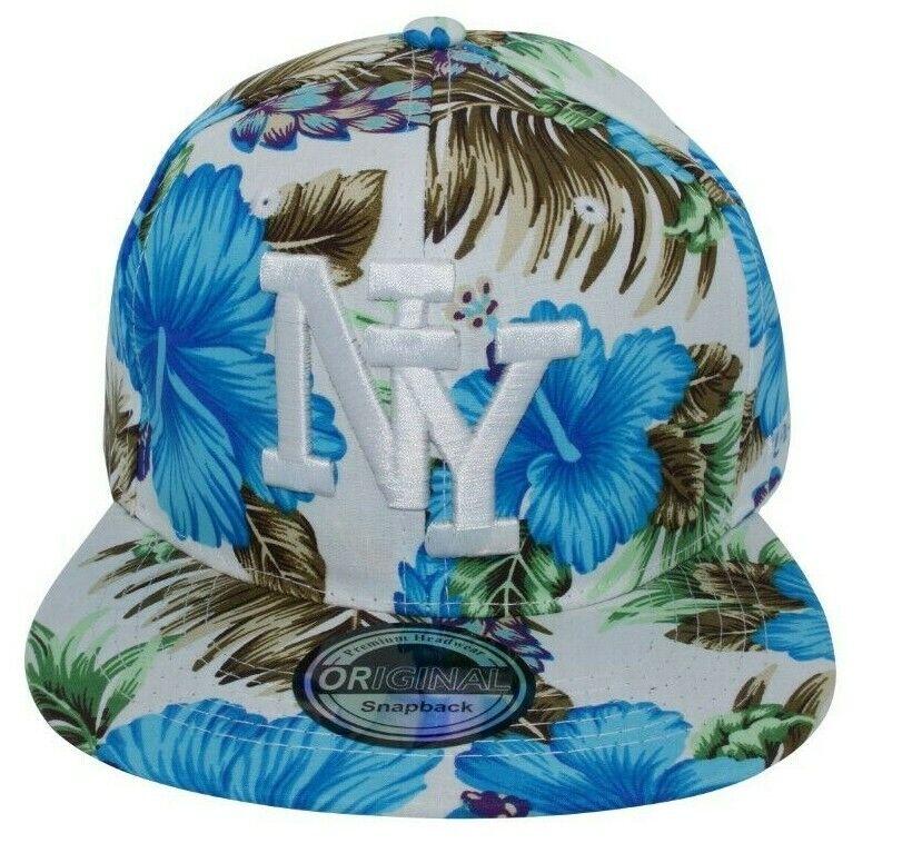 Cappy Kappe Cap Basecap Damen Damenkappe Mütze Sommer Freizeit NY Hawaii blau