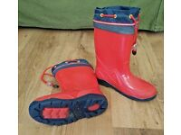Wellies Red size 10 - 12