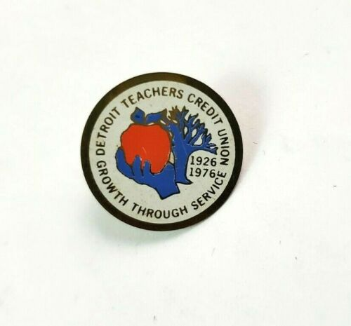 1926-1976 Detroit Teachers Credit Union 50 Years Vintage Lapel Pin Michigan
