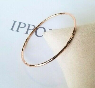 IPPOLITA - Hammered Rose Gold & Sterling Silver Bangle Bracelet - Stunning!