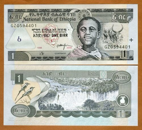 Ethiopia, 1 Birr, 2006, Pick 46 (46d), UNC > Boy