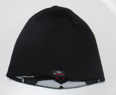 VW Strickmütze mit 3D-Logo 33D084303A Grau Blau Mütze Hut Beanie