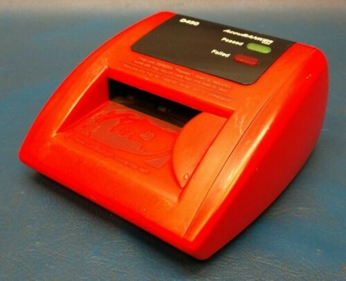 AccuBANKER D450 Bleached Bills Auto Detector (Red), Tested Working.