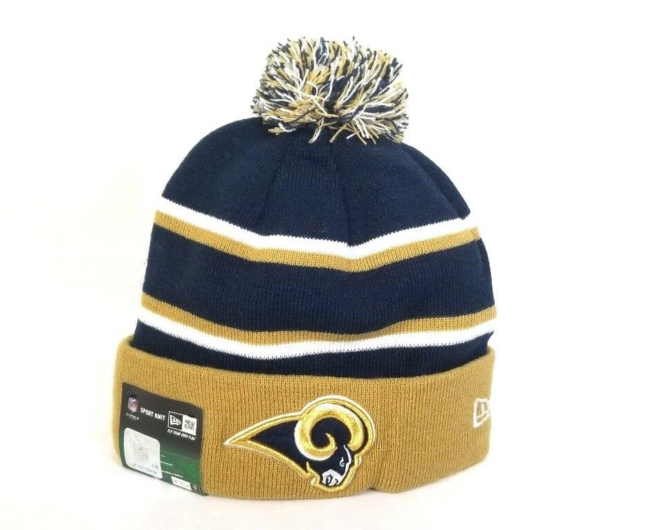 2d9264b07ef Authentic Los Angeles Rams New Era NFL On Field Winter Beanie Knit ...